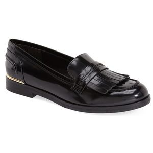 Marc Fisher Roryer black leather Kiltie loafers